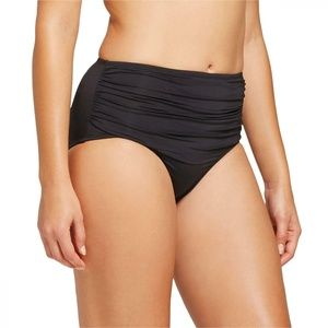 NEW Merona High Waist Bikini Bottom Large Black